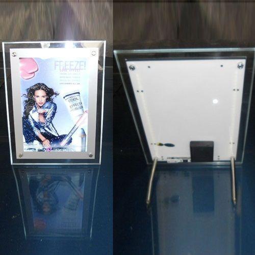 China Single side desktop battery powered acrylic crystal led light box on sale