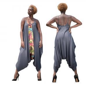 Buy cheap Ladies Printed Loose Haren Pants Jumpsuit 21433 from Wholesalers