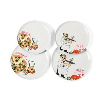 China Wholesale Porcelain Ceramic Serving Dish Pizza Plate on sale