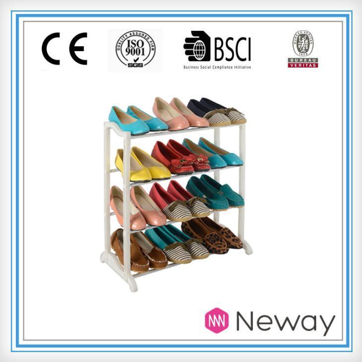 China diy rotating shoe rack plastic storage products plastic folding shoe rack on sale
