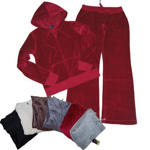 China Lady velour jogging suit, long sleve top,long pants. on sale