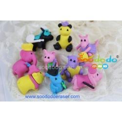 Animal Eraser 3D Eraser Manufacturer - hot sale animal shaped eraser