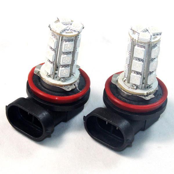 China 2pcs Blue 18 SMD LED Car Fog Light Lamp Bulbs HB3 12V on sale