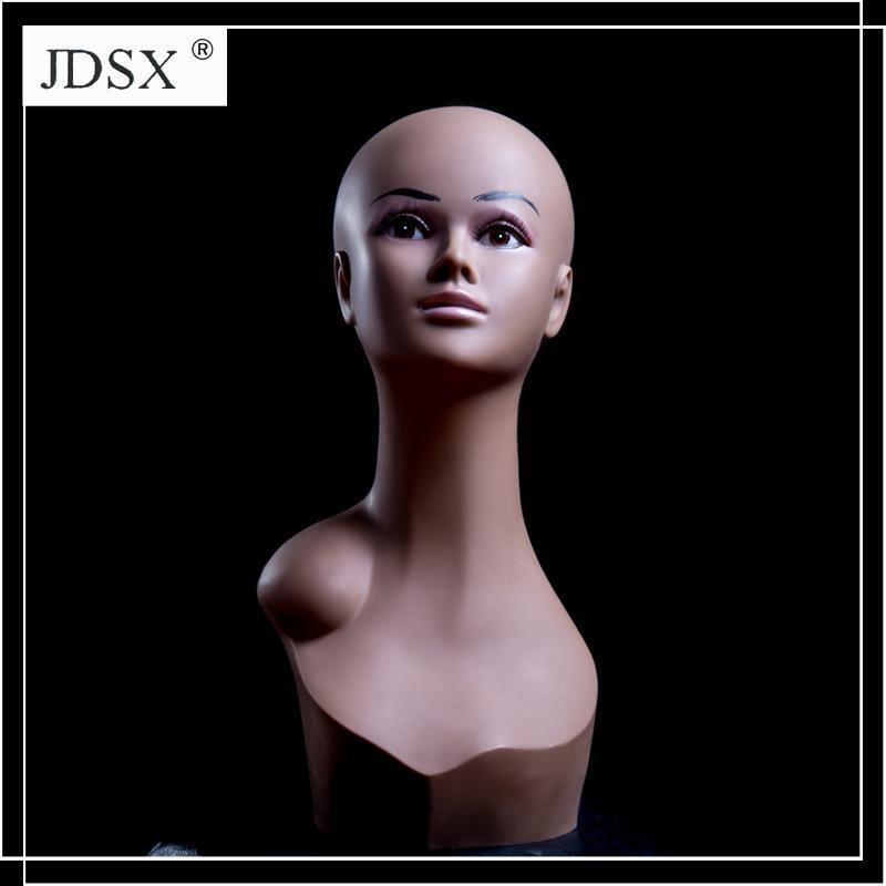 Cork Canvas Block Head PVC Mannequin head PFZT