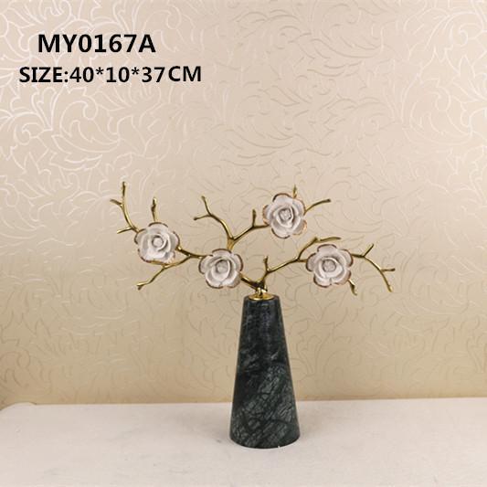 China Ceramic craft Flower crafts on sale