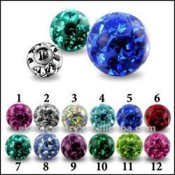 Epoxy Ball Body Jewelry