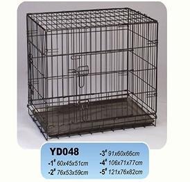 Dog Cages Name:YD048 black wire metal dog kennels